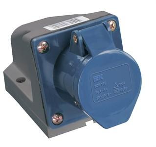 Розетка стационарная ССИ-123 2P+PE 32А 200-250В IP44 IEK