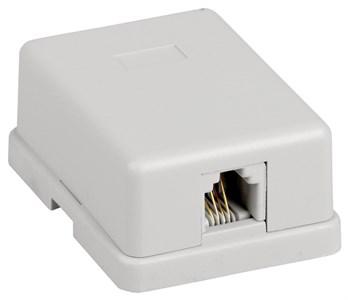 ITK Настенная розетка RJ12 6P4C кат.3 UTP 1-порт белая