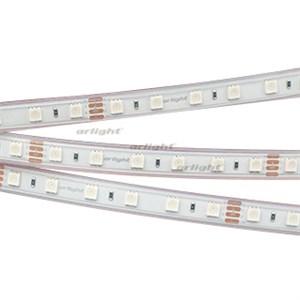 Лента RTW 2-5000P 24V RGB 2x (5060, 300 LED, LUX) (ARL, 14.4 Вт/м, IP66)
