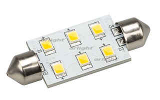 Автолампа ARL-F42-6E Warm White (10-30V, 6 LED 2835) (ANR, Открытый)