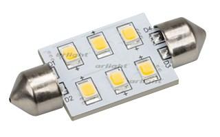 Автолампа ARL-F37-6E Warm White (10-30V, 6 LED 2835) (ANR, Открытый)