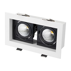 Светильник CL-KARDAN-S180x102-2x9W Warm (WH-BK, 38 deg) (ARL, IP20 Металл, 3 года)
