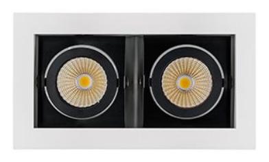 Светильник CL-KARDAN-S180x102-2x9W Day (WH-BK, 38 deg) (ARL, IP20 Металл, 3 года)