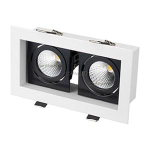 Светильник CL-KARDAN-S180x102-2x9W White (WH-BK, 38 deg) (ARL, IP20 Металл, 3 года)