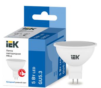 Лампа светодиодная MR16 софит 5Вт 230В 6500К GU5.3 IEK