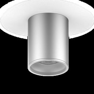 Светильник Gauss Overhead накл цил 12W 920lm 4100K 170-240V IP20 79*100мм хром сатин LED 1/30