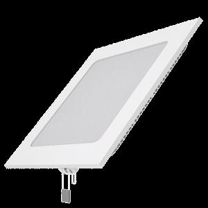 Светодиодный встраиваемый светильник Gauss ультратонкий квадратный IP20 15W 2700K 1/20