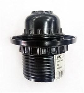 Патрон с кольцом Пкб27-04-К11 карболитовый Е27 черный (50шт) (стикер на изделии) IEK