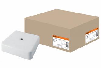 Коробка распаячная КР 75х75х20 ОП белая IP40 TDM SQ1401-0203