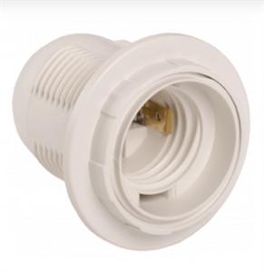 Патрон с кольцом Ппл27-04-К12 пластик Е27 белый (50шт) (стикер на изделии) IEK