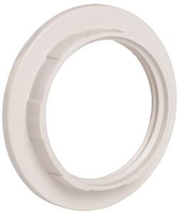 Кольцо абажурное КП27-К02 к патрону Е27 пластик белый (индивидуальный пакет) IEK