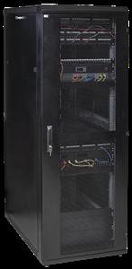 ITK Шкаф серверный 19  LINEA S 42U 800х1000мм перфорированные передняя и задняя двери черный (место 3 из 3)