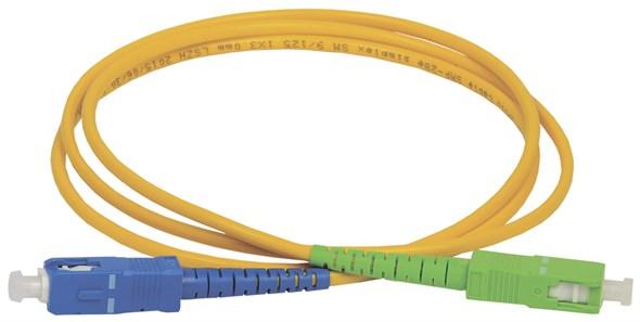 ITK Оптический коммутационный переходной шнур (патч-корд), SM, 9/125 (OS2), SC/UPC-SC/APC, (Simplex), 1м