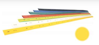Трубка термоусаживаемая ТТУ 50/25 желто-зеленая (1м) IEK