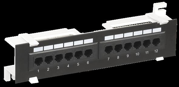 ITK настенная патч-панель кат.6 UTP 12 портов (Dual)