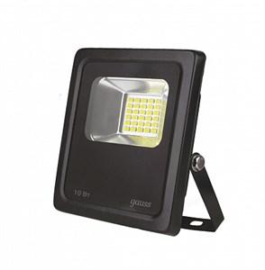 Прожектор Gauss Elementary 10W 850lm 6500К 200-240V IP65 черный LED 1/20