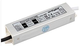 Блок питания ARPV-12020-D (12V, 1.7A, 20W) (Arlight, IP67 Металл, 3 года)