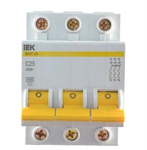 Выключатель автоматический ВА47-29 3Р 20А 4,5кА В IEK