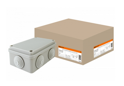 Коробка расп. ОП 120х80х50мм, крышка, IP55, 6 вх. TDM SQ1401-0105