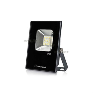 Светодиодный прожектор AR-FLAT-ICE-10W-220V White (Black, 120 deg) (arlight, Закрытый)