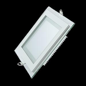 Светильник Gauss Glass кв 12W 900lm 3000K 220-240V IP20 монт Ø118х118 160*160*30 с дек стек LED 1/40