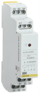 Реле промежуточное модульное OIR 3 контакта 16А 24В AC/DC IEK