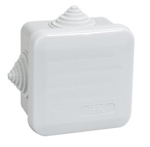 Коробка распаячная КМ41236 для открытой проводки 70х70х40мм IP44 (RAL 7035, 4 гермоввода, защелкивающаяся крышка) IEK