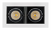 Светильник CL-KARDAN-S180x102-2x9W Day (WH-BK, 38 deg) (ARL, IP20 Металл, 3 года) - фото 55387