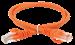 ITK Коммутационный шнур (патч-корд) кат.5E UTP 1м оранжевый - фото 62181