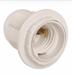 Патрон с кольцом Ппл27-04-К12 пластик Е27 белый (50шт) (стикер на изделии) IEK - фото 82012